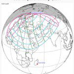 Path of the January 2011 solar eclipse