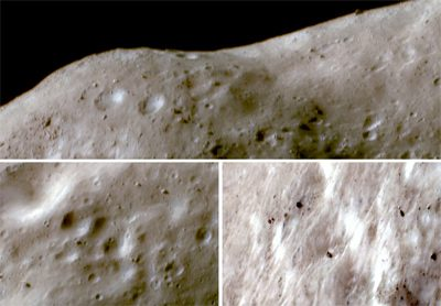 The surface of asteroid Eros