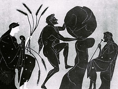 Sisyphus, supervised by Persephone