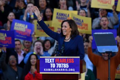 """With her background in law enforcement, Harris may be able to shed the tired conservative slur of """"soft on crime"""", but does she have enough experience to govern the country?"""