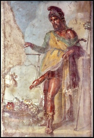 Priapus, astrologically indicating penile issues