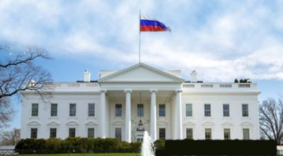 Russian flag over White House