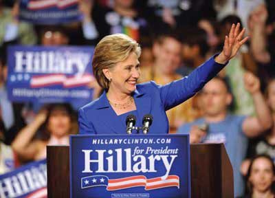 Candidate Hillary Clinton, 2008