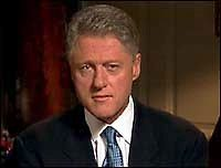 Bill Clinton admits to inappropriate relationship