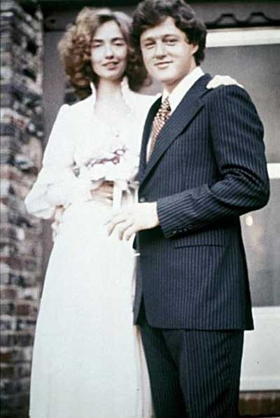 Hillary and Bill Clinton's wedding day