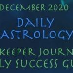 Daily Astrology Forecast, Daykeeper Journal Astrology, December 2020