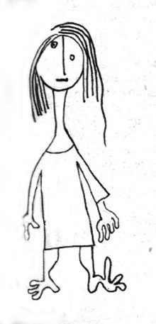 Drawing of the sign Virgo by novelist Milan Kundera.