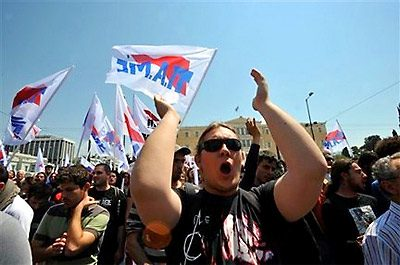 Workers in Greece protest cutbacks