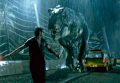 Trying not to be T-Rex's next meal—Spielberg's Jurassic Park
