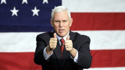 Mike Pence, thumbs up