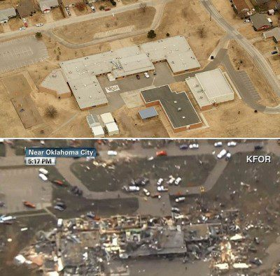 Plaza Elementary School before and after